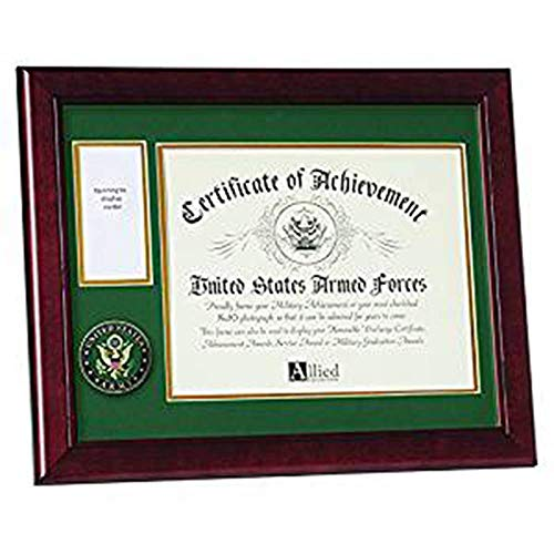 flag connection Allied Frame U.S. Army Medal and Award Frame with Medallion -13 x 16 Army Medallion Frame, Army Medal with Photo Frame