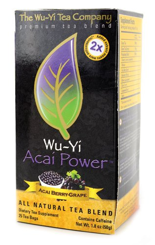 Wu-Yi Acai Power Tea 25 tea bags/box Acai-Grape Flavored