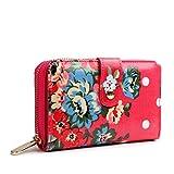 Miss Lulu Designer Print Small Oilcloth Womens Purse Wallet (Flower Pink)