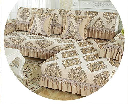 (1 Piece Sofa Cover Chenille Sofa Towel Slip Resistant Jacquard Slipcover Seat Couch Cover Armrest Backrest Living Room,Pattern 5,90240cm)