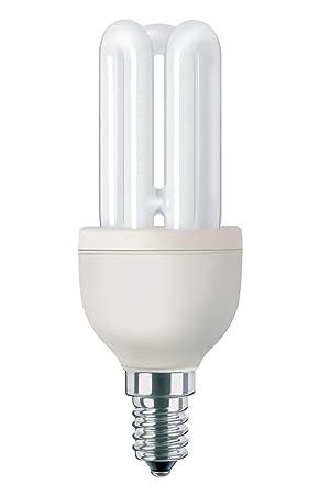 Philips Bombilla de Tubo de bajo Consumo 871150080116610 E14, 11 W, Plata, Color blanco: Amazon.es: Iluminación