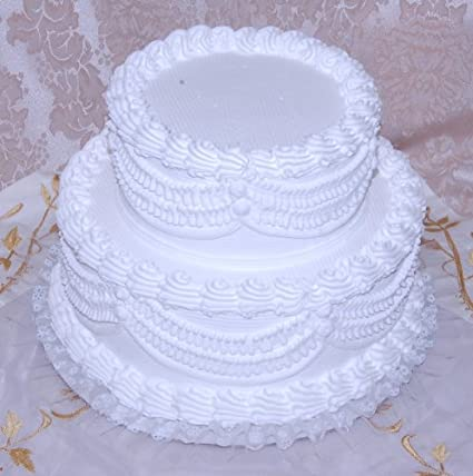 Amazon Com Flora Cal Products 12 2 Tier Stacked Fake Wedding Cake