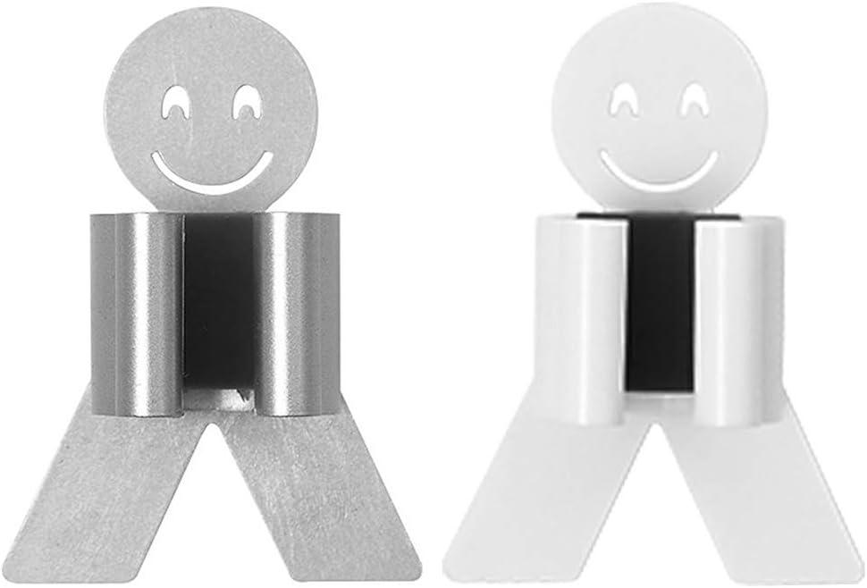 cara sonriente soporte para fregona o fregona para colgar en la pared Vaeiner Soporte para fregona y escoba blanco fuerte adhesivo sin costuras