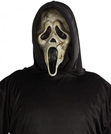 Ghost Face Mask Hood Scream Fancy Dress Up Halloween Adult Costume Accessory