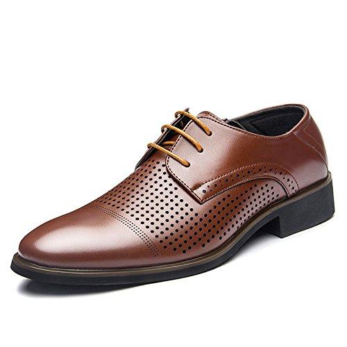 NBWE Hommes Chaussures Printemps Eté New Men's Business Dress Chaussures Creux Décontracté Low Shoes Brown1 a0vPENJuBa