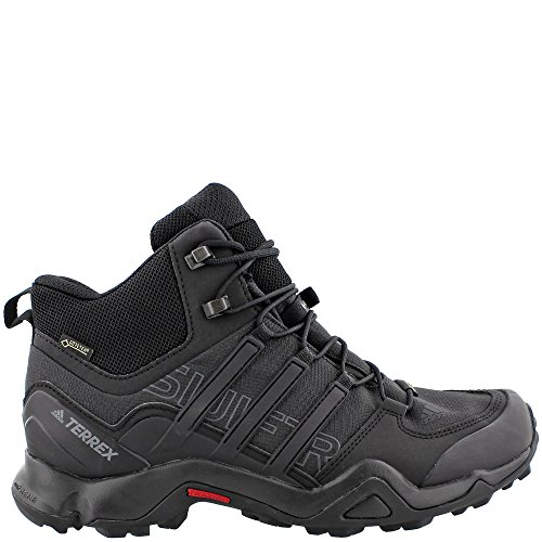 Adidas Sport Performance Men's Terrex Swift R Mid GTX Hiking Boots, Black Textile, Mesh, Rubber, 7 M