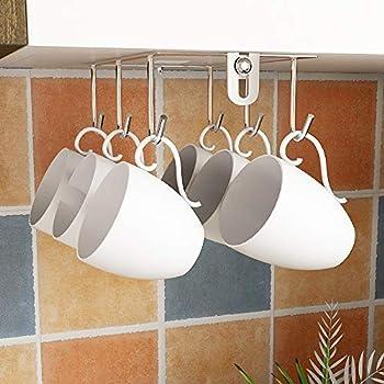Amazon.com - IDEALCRAFT Mug Hooks Under Cabinet Hanging ...