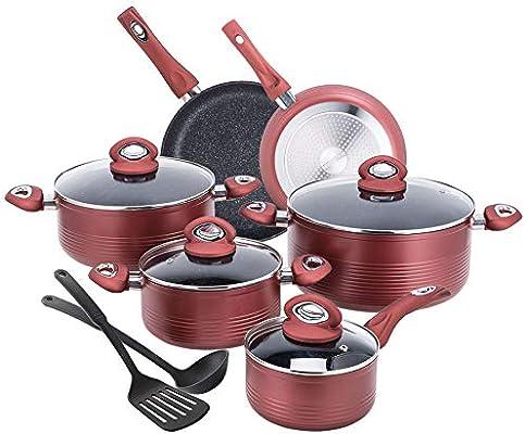 Amazon com: CO-Z 12-PCS Cookware Set Teflon-Coated Nonstick