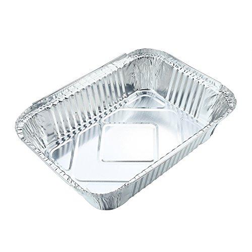 Elite Selection 1lb Aluminum Foil Pans Reusable and Disposable Foil Pans Oven /& Freezer Safe 1LB Board Lids 50 Piece Set Stackable Foil Pans with Board Lids