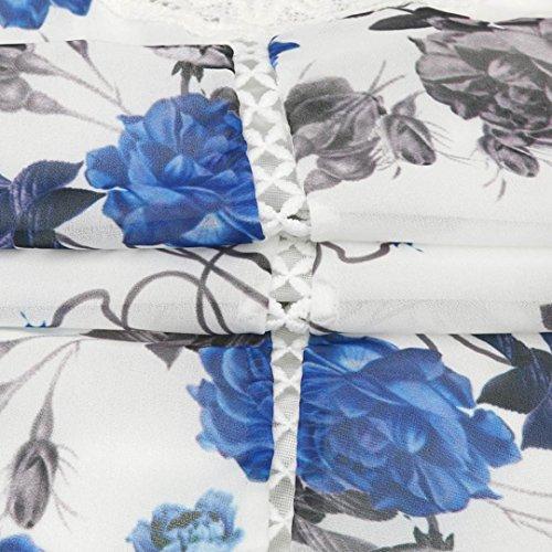 Sleeveless Blue Sannysis Floral Beach Dress Women's Printed Splice Lace f8q5pn4qwO