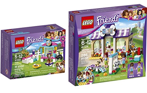 LEGO Friends Heartlake Puppy Daycare 41124 & LEGO Friends Puppy Pampering 41302 Kit animal edition Building Set