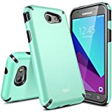 Galaxy J3 Emerge Case, Galaxy Express Prime 2 Case, SGM [Shock Absorption] Drop Protection Hybrid Armor Defender Protective Case Cover for Samsung Galaxy J3 Emerge / Express Prime 2 (Dark Mint)