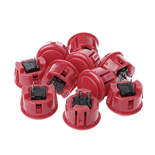 ULKEME10 Pcs 30mm Push Button Arcade Fighting Game & Super Street Fighter Games Switch Copy - Copy Equipment