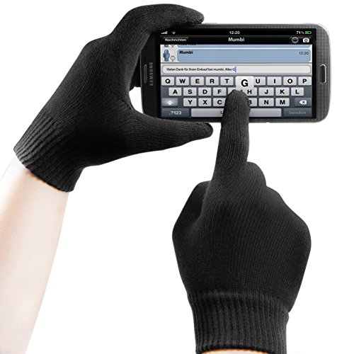 mumbi Touchscreen Handschuhe für kapazitive Displays Grösse L