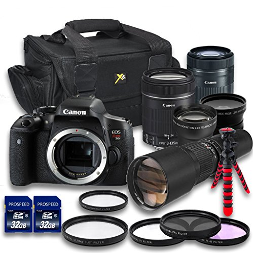 Canon T6i DSLR Camera + 18-135mm f/3.5-5.6 IS STM ...