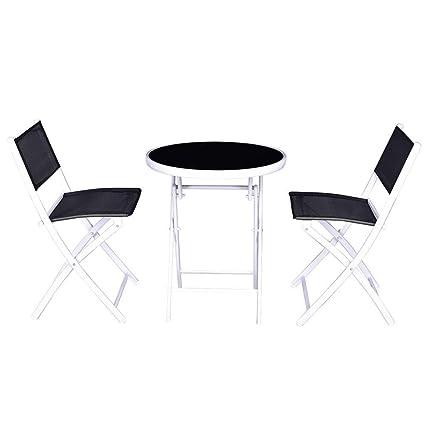 Cool Amazon Com Zotoyashop 3 Pcs Folding Bistro Table Chairs Set Bralicious Painted Fabric Chair Ideas Braliciousco