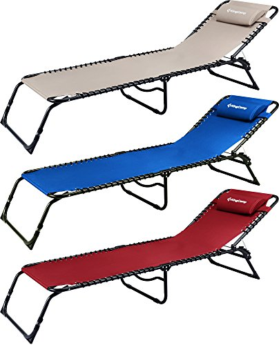 Amazon.com : KingCamp Patio Lounge Chair Chaise Bed 3 Adjustable ...