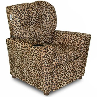 Dozydotes Cup Holder Recliner in Cheetah