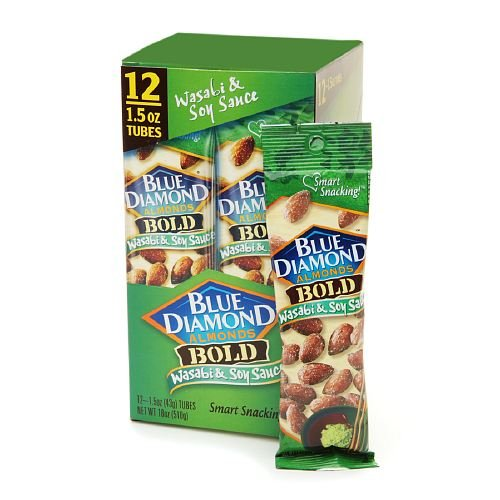 Blue Diamond Bold Almonds, Wasabi & Soy Sauce, 1.5 oz tubes 12 ea ()