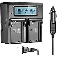 SunRoom EN-EL15 EN-EL15A Dual LCD Battery Charger for Nikon DSLR D810, D750, D7200, D7100, D7000, D800E, D800, D610, D600, NIKON 1 V1 Digital Cameras …