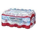 water 35 pack - Crystal Geyser Natural Alpine Spring Water, 16.9 Ounce (35 Bottles)