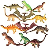 7'' - 8'' Dinosaur Toy for Kids (Pack of 12). Realistic Looking Educational Dinosaur Toy Action Figures for Boys Girls Children | Gift for Boy Girl | Birthday Gift | Party Supplies Party Favors | Prize