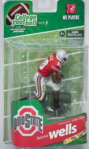 McFarlane College Football 3 [Beanie Wells] Ohio State University Red Beanie ()