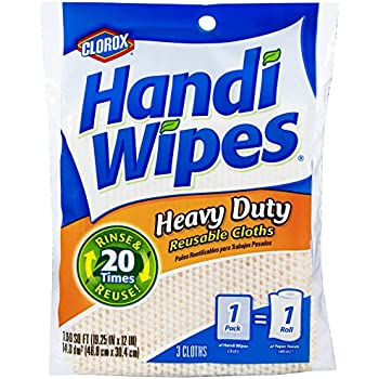 Clorox Handi Wipes Heavy Duty Reusable Cloths, 3 Count (Pack of 4) Colors May Vary