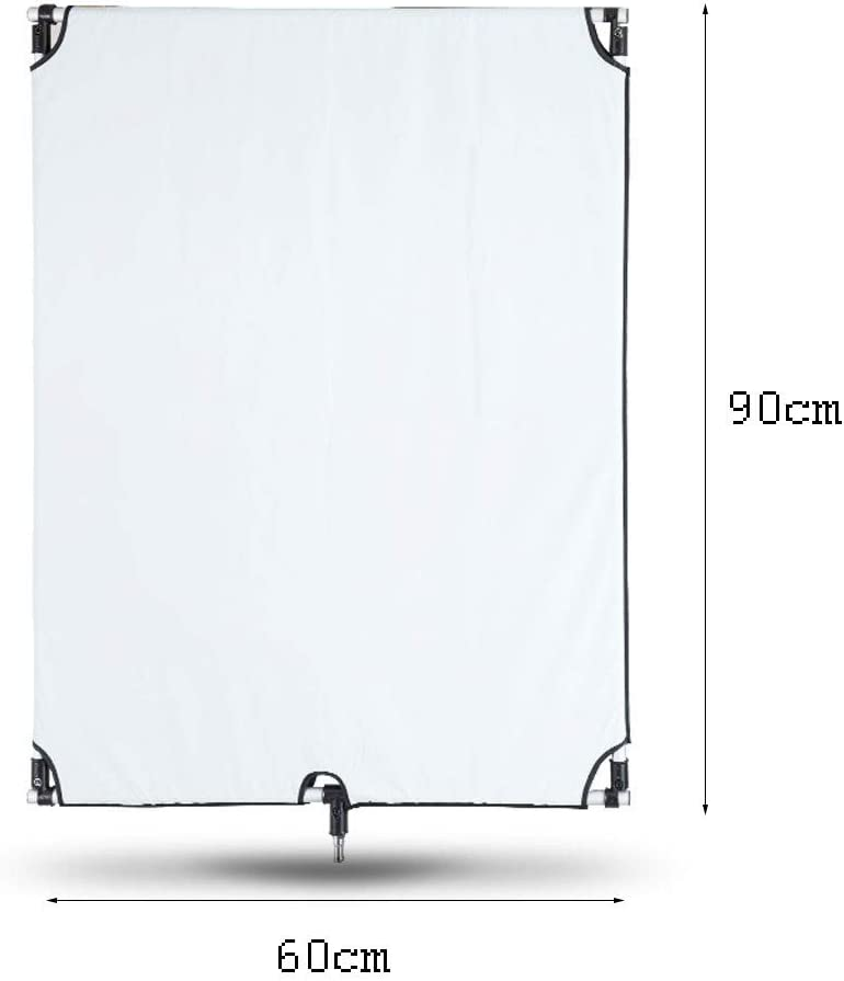 Zyj 60cm90cm 5 in 1 Reflector Soft Light Board Fill Light Visor Photography Portable Detachable Folding Flag Board