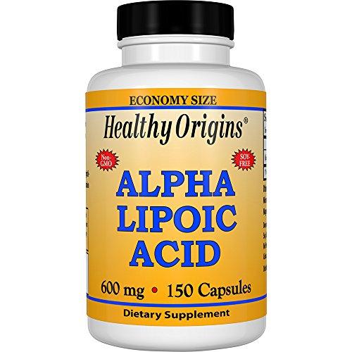 Acid Healthy - Healthy Origins Alpha Lipoic Acid 600 MG, 150 Count