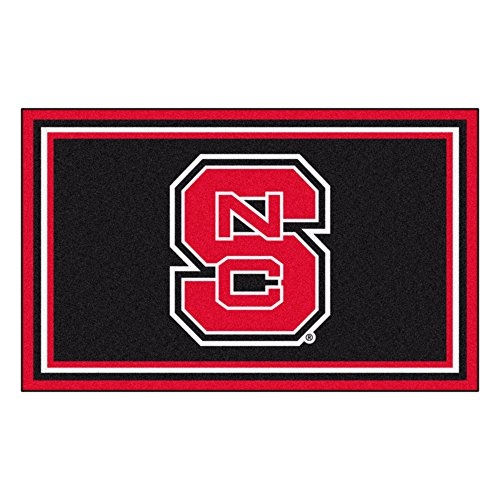 - FANMATS NCAA North Carolina State University Wolfpack Nylon Face 4X6 Plush Rug