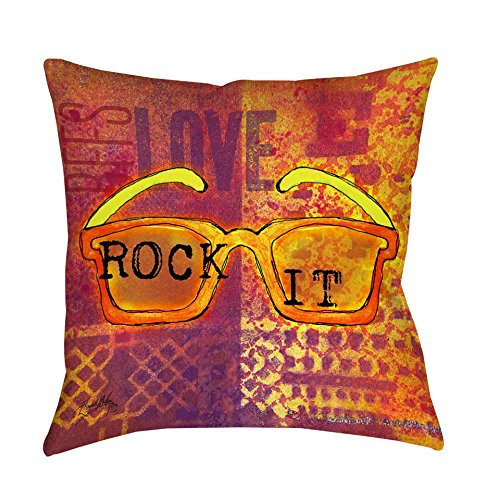 Thumbprintz Sunglasses Rock It Decorative Throw Pillow Large 20 x - Sunglasses The Rock With