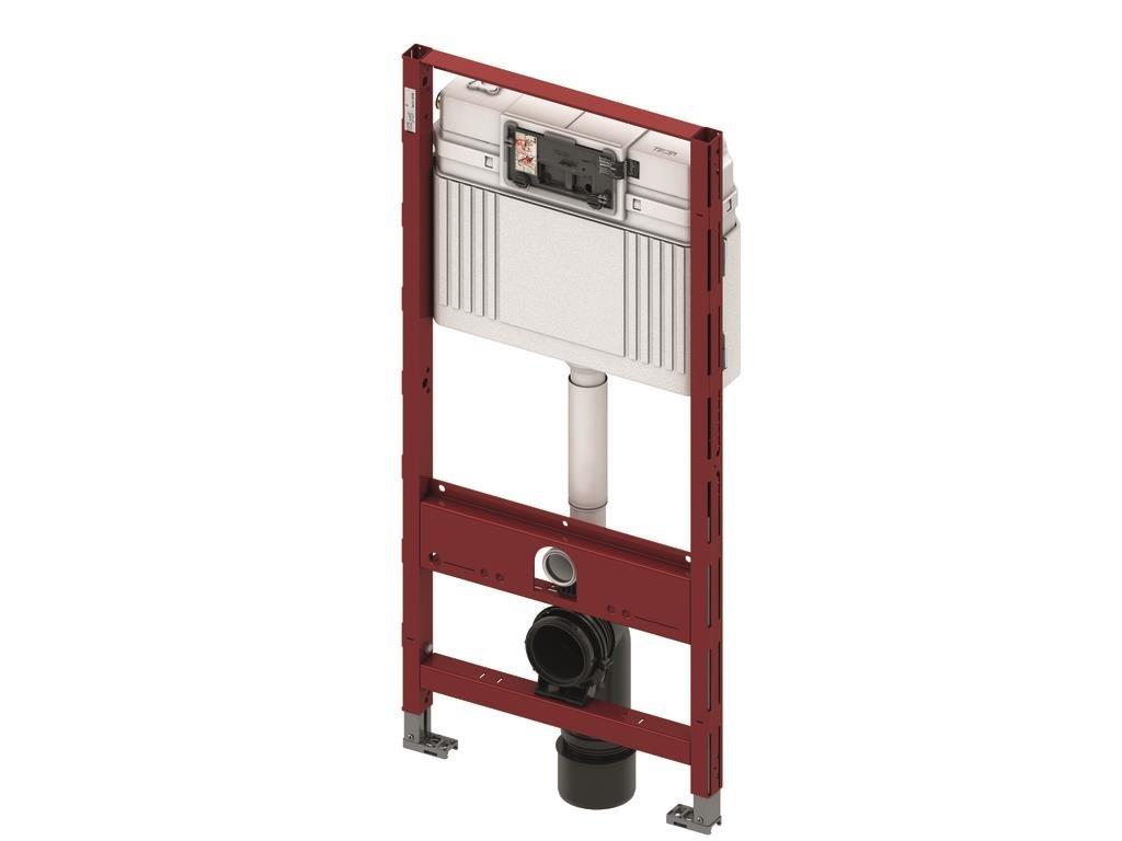 Tece Teceprofil WC-Modul mit Tece-Spü lkasten, komplett vormontierte Einheit fü r die Befestigung an Profilrohren, WC-Modul mit Betä tigung von vorne, Bauhö he 1120 mm, Art.Nr. 9300000