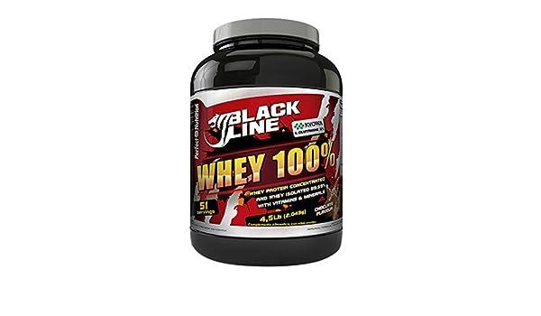Perfect Nutrition Black Line 100% Whey, Suplementos de Proteínas, Sabor a Chocolate - 2043 gr: Amazon.es: Salud y cuidado personal