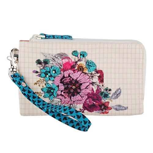 Wristlet removable clutch travel bag purse money pouch wallet organizer
