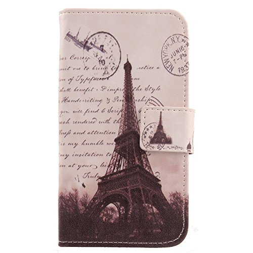 (Lankashi Pattern Wallet Design Flip PU Leather Cover Skin Protection Case for Huawei Honor Play 6A / Honor 6A Pro/Honor Holly 4 / Honor 5C Pro (Stamp Tower))