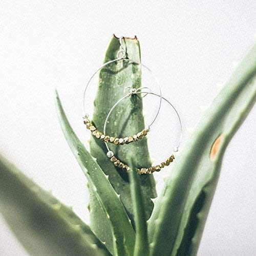 Gold and Silver Hoop Earrings for Women | Handcrafted Beaded Drop Hoops | Fair Trade Jewelry by Madres Collective
