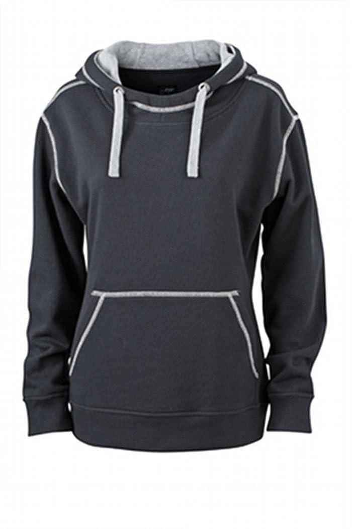 TALLA M. James & Nicholson Kapuzensweatshirt Ladies' Lifestyle Hoody Sudadera, Mujer