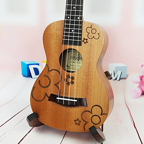 Blossom Seals (HOT SEAL 23 in Creative Cute Engraving Ukulele Handmade Carving Dapper Beginners Concert Uke (23 in, Plum Blossom))