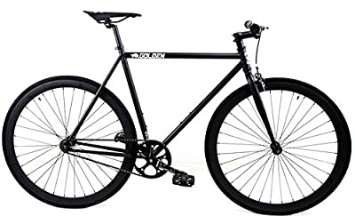 Golden Cycles Fixed Gear Single Speed Fixie Road Bike (Vader, 55)