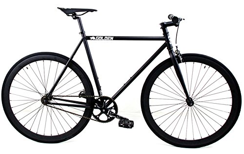 Golden Cycles Fixed Gear Single Speed Fixie Road Bike (Vader, 52)