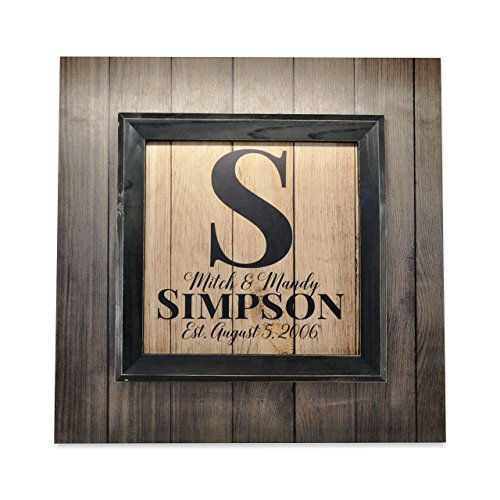Framed Personalized - Personalized Framed Antique Wood Style Family Name Sign