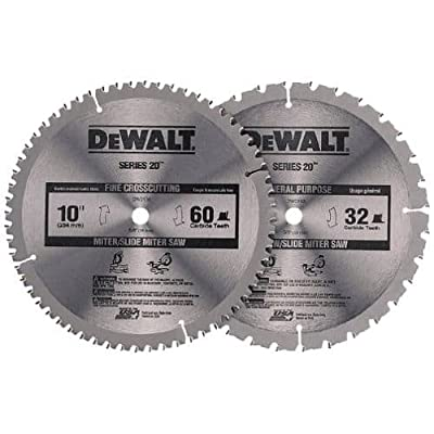 "Dewalt DW3106P5 10"" Circular Saw Blade Construction Combo Pack (DW3106 and DW310, by Dewalt"