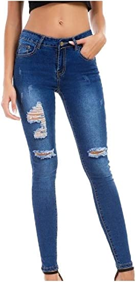 EnergyWD Womens Flexible High Rise Skinny Skinny Pencil Pants Jeans Trousers
