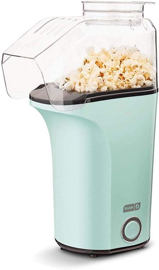 DASH DAPP150V2AQ04 Hot Air Popcorn Popper Maker with Measuring Cup to Portion Popping Corn Kernels + Melt Butter, 16, Aqua   Amazon