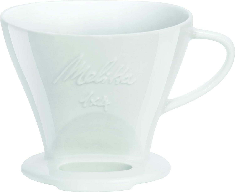 Melitta 6763134 Cone Porcelain Coffee Filter Size 1 x 4 White