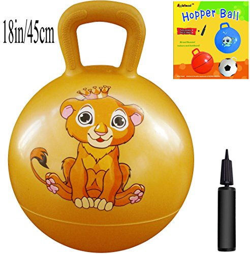Space Hopper Ball with Pump, 18in/45cm Diameter for Ages 3-6, Hop Ball, Kangaroo Bouncer, Hoppity Hop