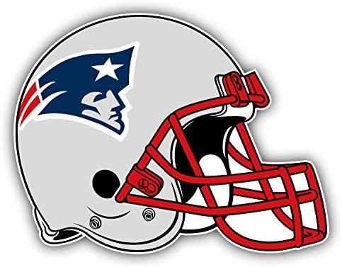 hotprint Patriots Football New England Helmet Logo Car Bumper Sticker Decal 5 X 4