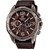 Casio EFR-538L-5AVUEF - Reloj de pulsera hombre, piel, color marrón