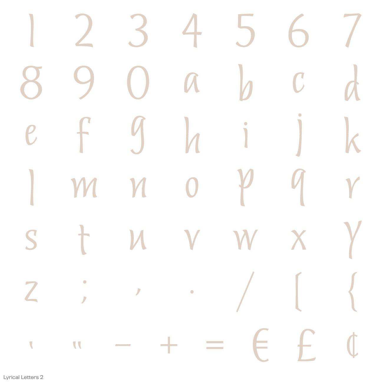 Cricut Lyrical Letters 2 Cartridge by Cricut (Image #16)